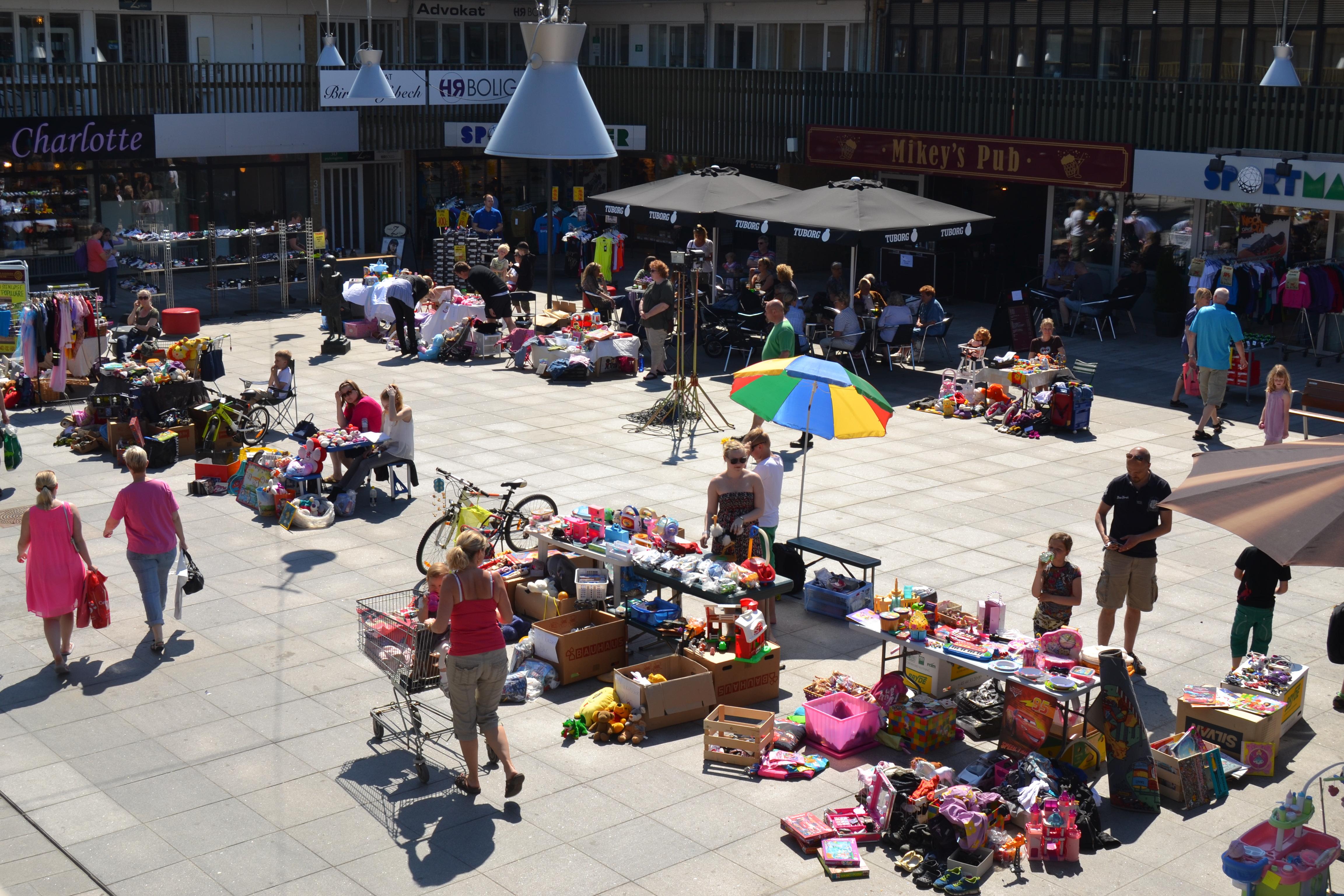 Loppemarked i Egedal Centret